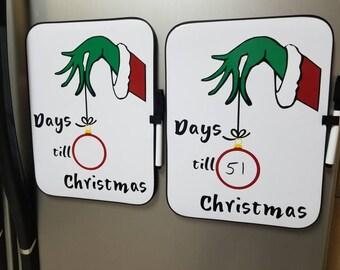 Grinch Christmas Countdown Dry erase Board