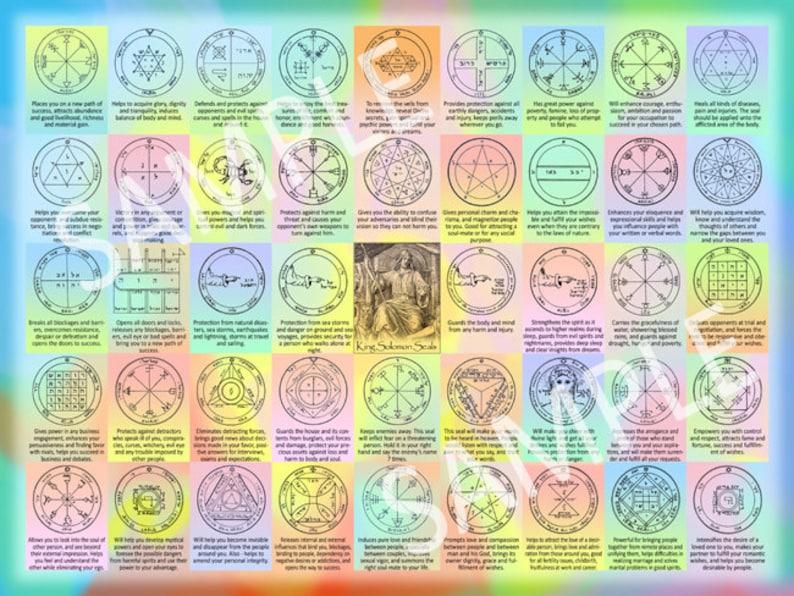 The 44 Seals of Solomon and their interpretations  Kabbalah image 0