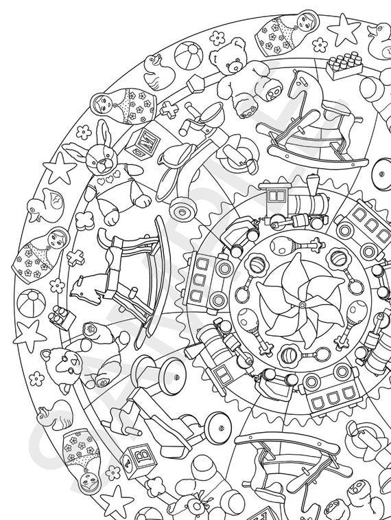 Mandalas Majestic Jumbo libro para colorear Tamaño adulto   Etsy