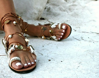 850bf749a9ffa Gold Sandal   Lace Up Leather Sandal   Greece Sandal   Greek Sandal   Handmade  Sandal   Boho Sandals   Women s Sandals   Paros