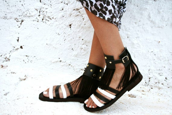 sandals sandals style decorated sandals leather Rock Crochet Black Onyx sandals 41q4d