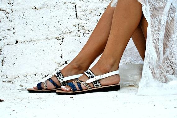 Sandale en Sandale en cuir grec fabriqu gwZRqzC