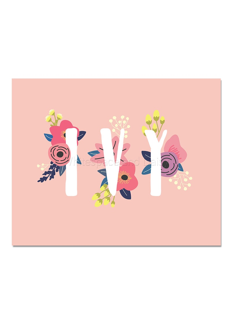 91ff5811ee7 Ivy Baby Name Wall Art Ivy Baby Name Sign Ivy Party Printable