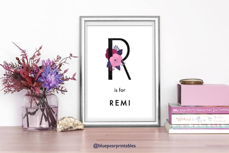 picture regarding Printable Stationary for Kids identify Remi Little ones Printable Stationary Watercolor Printable Young children Poster Standing Customized Artwork Printable Wall Artwork Customized Area Decor 8x10 Artwork Print