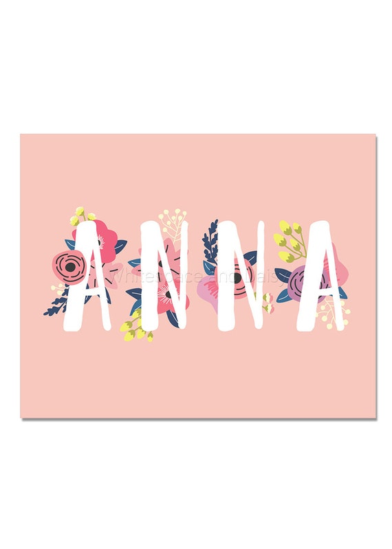 Anna Baby Name Wall Art Anna Baby Name Sign Anna Party Etsy