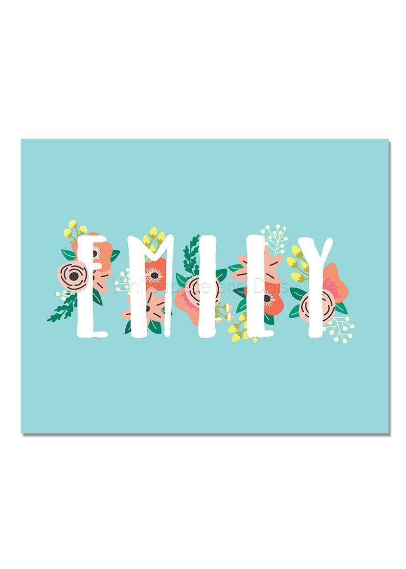 Emily Personalized Name Sign Baby Name Wall Art Baby Name ...