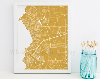 Rockwall Map Rockwall Art Rockwall Map Art Rockwall Print Rockwall Printable Rockwall City Art Rockwall City Map Texas Art