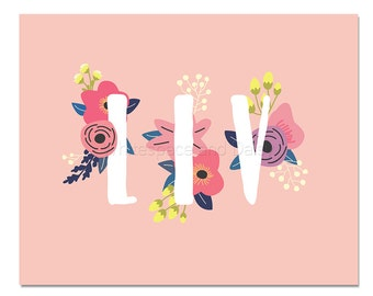 Liv Baby Name Wall Art Liv Baby Name Sign Liv Party Printable Liv Party Decorations Liv Adult Party Decorations Liv Art
