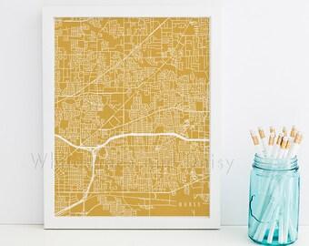 Hurst Map Hurst Art Hurst Map Art Hurst Print Hurst Printable Hurst City Art Hurst City Map Texas Art
