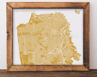 San Francisco Map San Francisco Art San Francisco Map Art San Francisco Print San Francisco Printable California Art