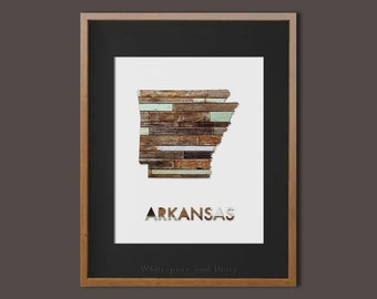 Arkansas State Art Printable Arkansas Art Print Arkansas State Printable Arkansas Wall Art State Map Print Home Wall Art Faux Wood Wall Art