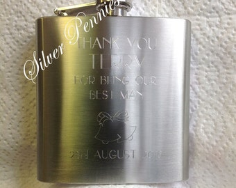 Personalised Hip Flask. Any occasion, WEDDINGS, GIFTS, ETC.