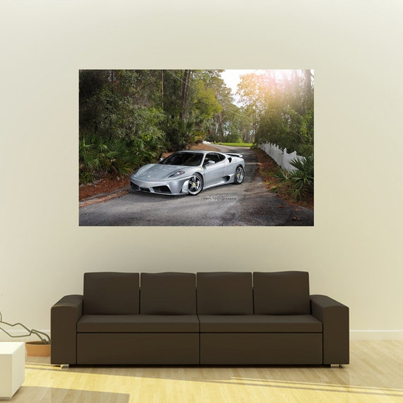 Poster of Mazda FD RX7 3rd gen RX-7 on 360 Forged wheels Collage 54x36 Print