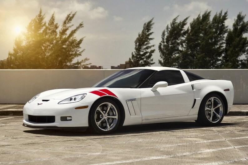 C6 Grand Sport >> Poster Of Chevy C6 Grand Sport Corvette White Hd Print