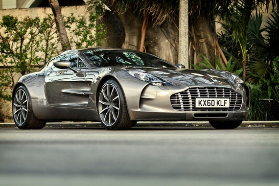 Poster Of Aston Martin Grey One 77 Right Front Hd Print Etsy