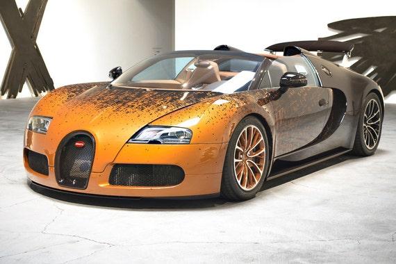 Bugatti Veyron Sports Car Print//Poster