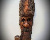 Wood spirit carving tree spirit carving hand made wooden face cottonwood bark whimsical wood carving driftwood art woodspirits mother 39 s day