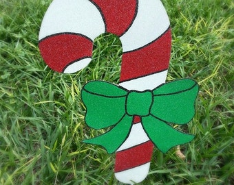 7 candy cane yard decorations holiday yard art candy cane walkway decor christmas candy yard stake festive garden outdoor holiday art - Candy Cane Christmas Yard Decorations