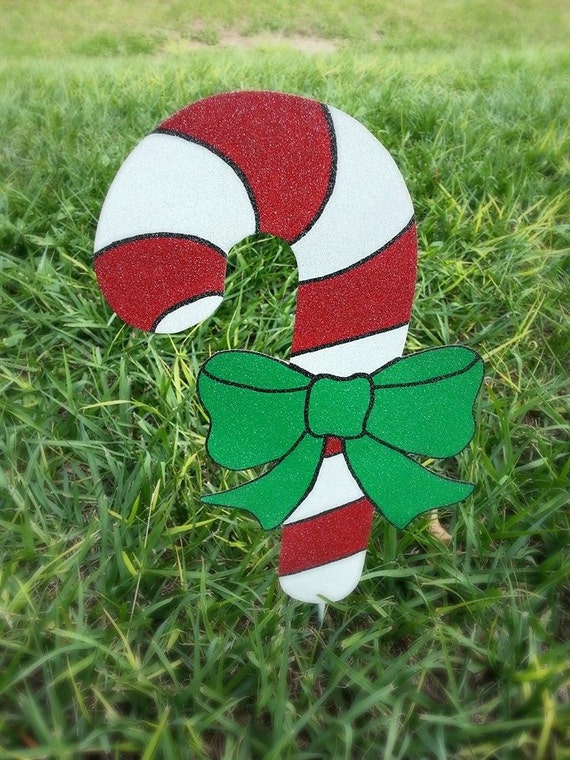 Candy Cane Yard Art Outdoor Christmas Candy Cane Holiday Etsy Unique Outdoor Decorative Candy Canes