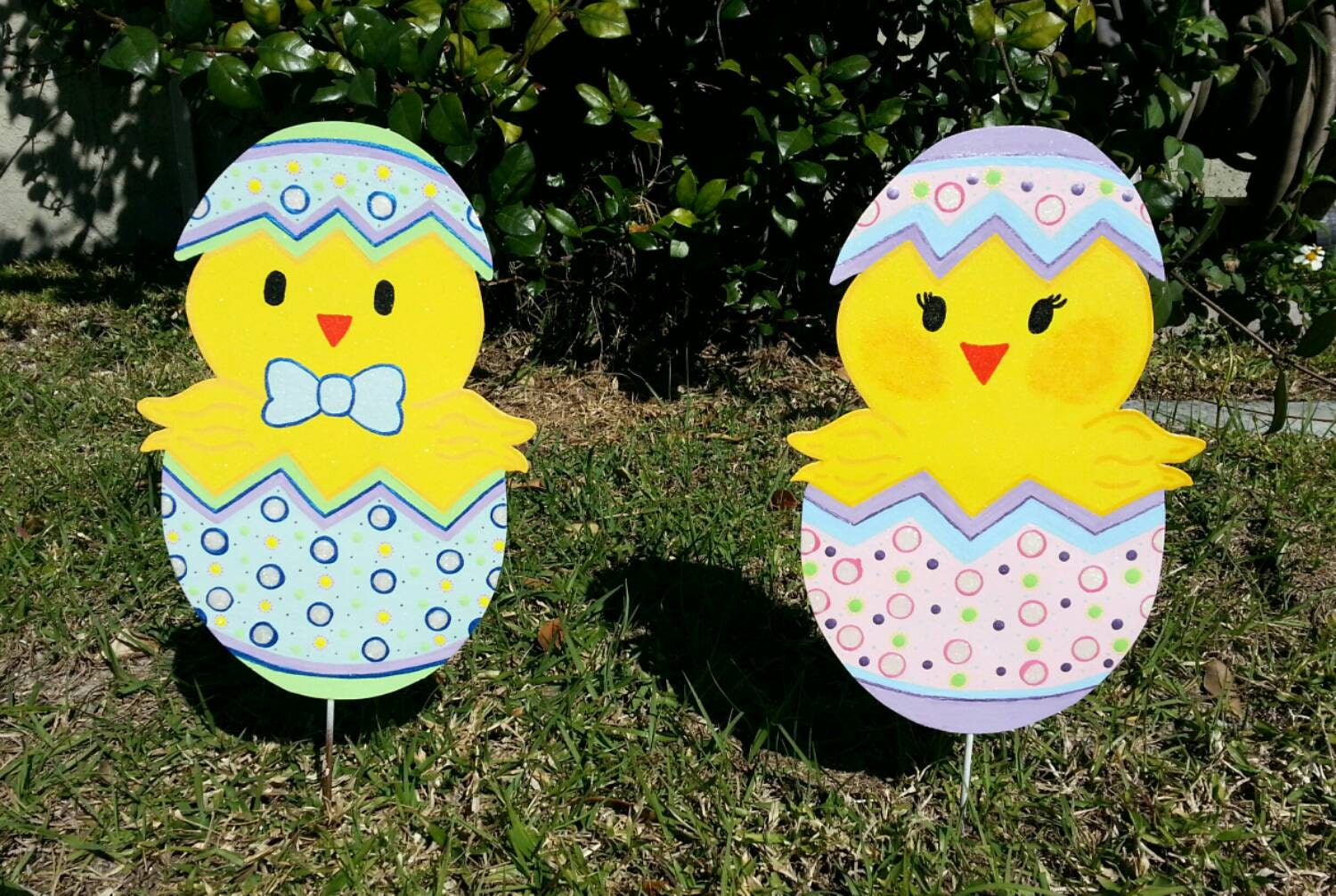 Easter Yard Decorations Easter Chick Easter Metal Yard Art Outdoor Easter Decor Easter Decorations Garden Decor Metal Yard Art Easter Yard