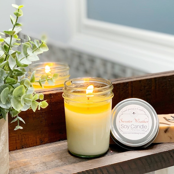 Scented Soy Candle Choose Scent Mason Jar Candle Travel Etsy