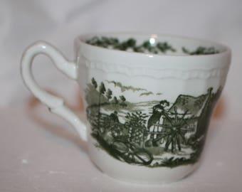 H2 English Countryside Royal Art Pottery Staffordshire Made In England Mug Teacup Coffee Cup