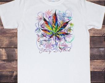 c63f07c4b Men's T-Shirt 'Stay lifted' Cannabis Khalifa Prosto Medical Marijuana Air  Brush TS1156