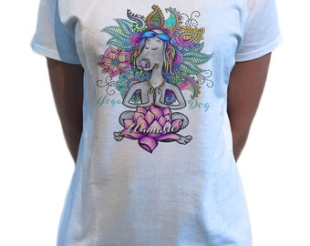 25111b5bb Women's T-Shirt Zen Lotus Flower Namaste Spiritual Meditation Yoga TS1747