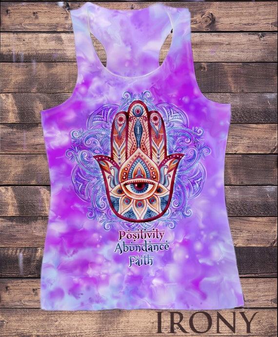 Receive Chakra Meditation Hamsa Hand Of Fatima /& Flower Breathe TS786 Believe