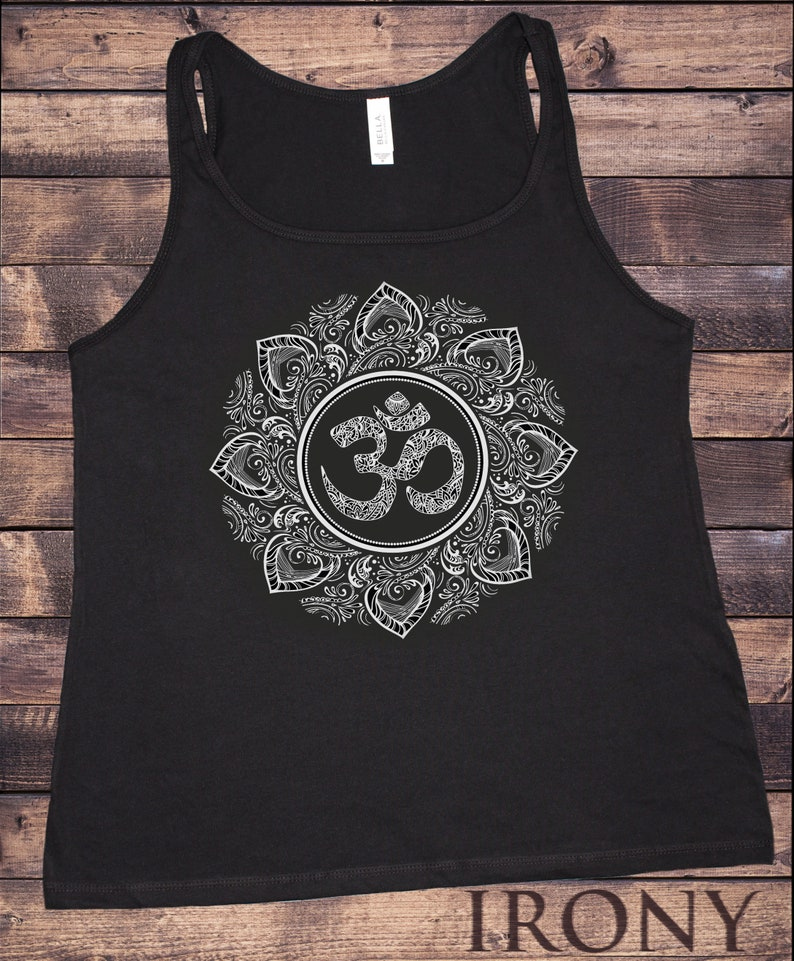 Jersey Tank Top Buddha Coloured Chakra Symbols Colourful Glow symbols JTK767