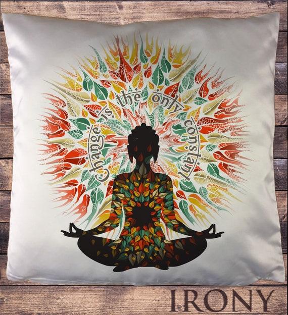 TS911 Women/'s White Top Buddha Om Asum Yoga Chakra Meditation India Zen-Flowers