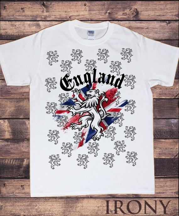 Camiseta blanca de Inglaterra Union Jack de los hombres todo | Etsy