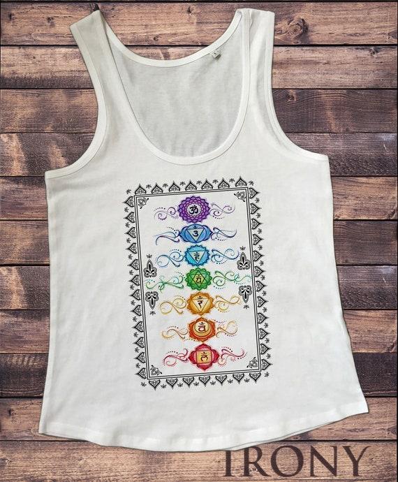 Lotus Flower Temple Spiritual Meditation FTK1744  F//B Women/'s fitted vest,Tank