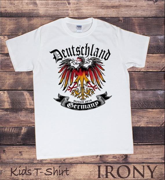 e8f894153c8 Kids White T-Shirt Football World Cup 2018 Russia Germany