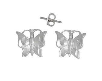 ON SALE Sterling Silver .925 Butterfly Pin Earring   Made in USA