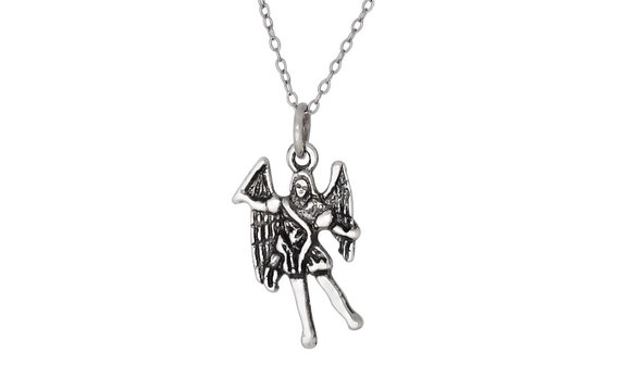 Sterling Silver .925 Archangel Zadquiel Angel of Freedom OxidizedMade in USA