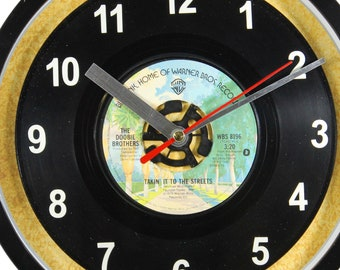 "The Doobie Brothers ""Takin' It To The Streets"" 45rpm Recycled Vinyl Record Wall Clock One Of A Kind"