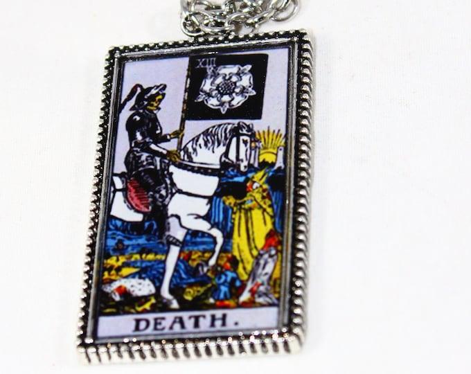 Death Tarot Card Pendant Necklace