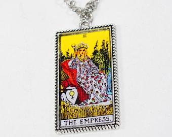 The Empress Tarot Card Pendant Necklace