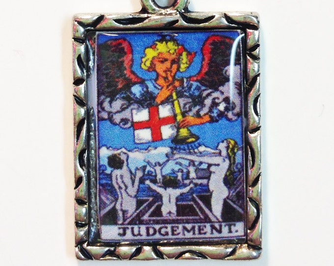 Judgement Tarot Card Charm Pendant Necklace
