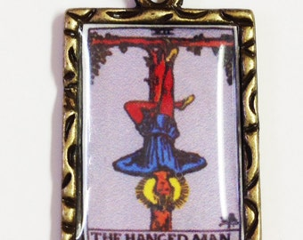 The Hanged Man Tarot Card Charm Pendant Necklace