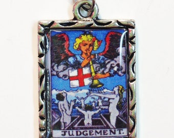 Judgement Tarot Card Charm Pendant Necklace