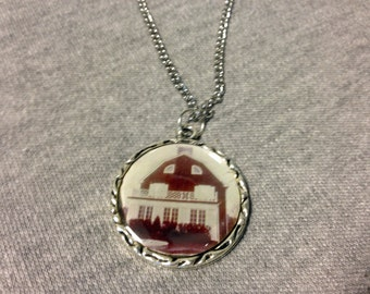 Amityville Horror House Charm Necklace Pendant