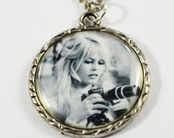 Brigitte Bardot Camera Photography Charm Pendant Necklace