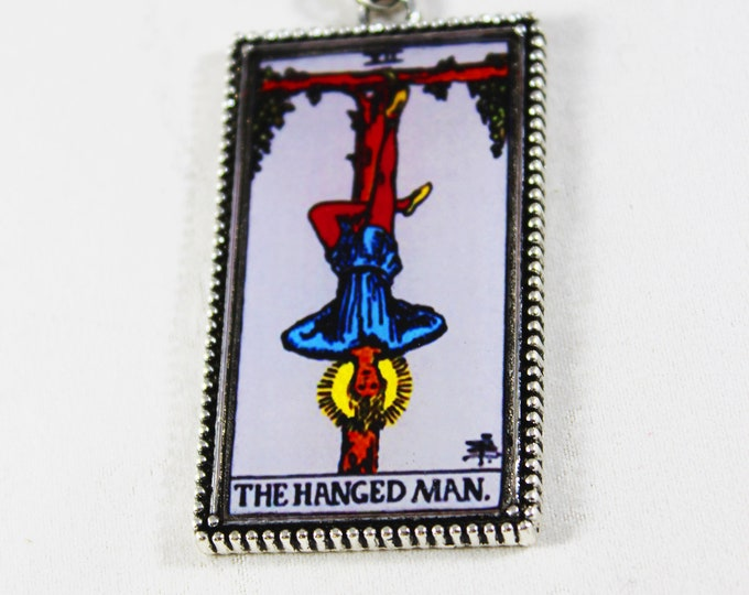 The Hanged Man Card Pendant Necklace