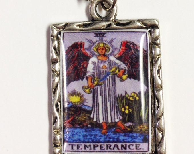 Temperance Tarot Card Charm Necklace