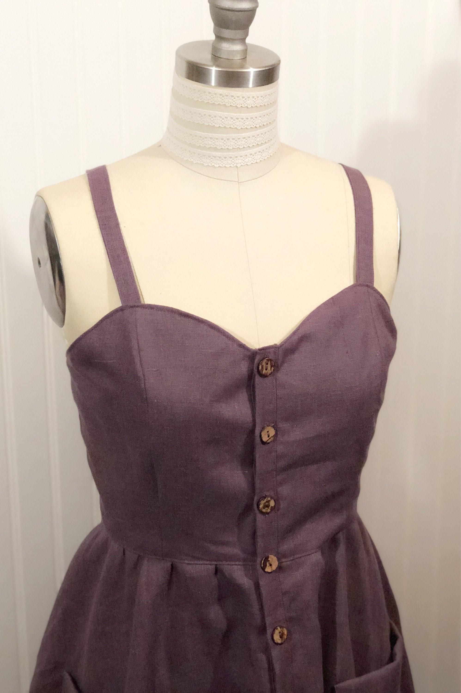 519c1c96dc4 Linen dress   button front   summer dress   linen summer dress   made to  measure