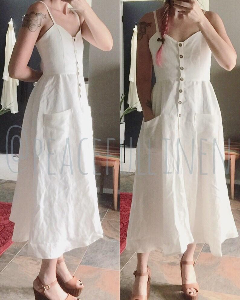 071c4691bd7 Linen dress   button front   summer dress   linen summer dress