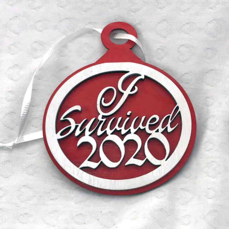 I Survived 2020 Holiday Ornament image 0