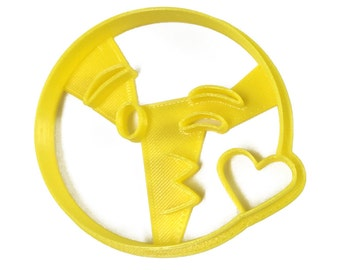 Emoji Kissy Wink Heart Cookie Cutter